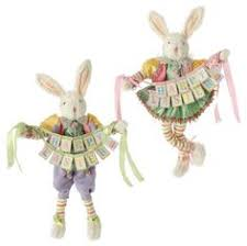 raz easter decorations e3653313 set 2 raz 14 garden bunny easter decoration