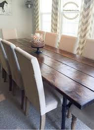 industrial kitchen table furniture farmhouse table upholstered chairs jand home developer