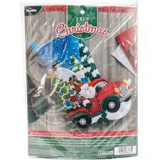 bucilla felt kits bucilla felt applique kit the christmas drive 86663 size