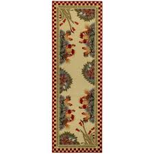 Rooster Runner Rug Rooster Checkered Non Skid Kitchen Runner Rubber Back Rug 20 X 59