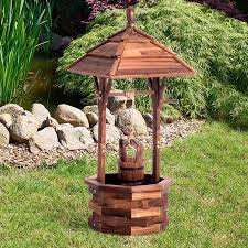 Wishing Well Garden Decor Wooden Garden Feature Wishing Well Home Decor Outdoor Ornament