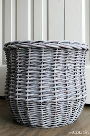 grey baskets purity grey basket with handles dunelm 7 99 for the