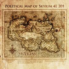 Skyrim World Map by Elder Scrolls Political Map Of Skyrim 4e201 By Dovahfahliil On