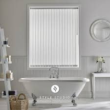 vertical blinds cambridge sunblinds ribbons asc white vertical blind made with fabric from style studio