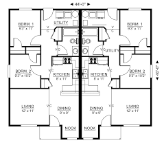 Duplex Floor Plan by Lexar 1548 Duplex Floor Plan 2 Bedrooms 1 Bathrooms 744 Sq Ft