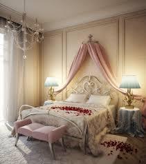 Romantic Bedroom Ideas With Rose Petals Decoration Mesmerizing Pendant Lamp Beautiful Valentines Day Room