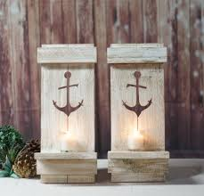 nautical anchor pallet wall sconce beach house decor