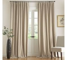 Lined Cotton Curtains Carson Linen Cotton Drape Pottery Barn