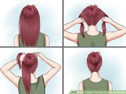 step to step hairstyles for medium hairs 15 ways to have a simple hairstyle for school wikihow