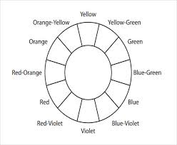 sample color wheel chart primary u0026 secondary colors printable