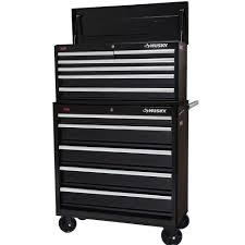 husky 36 in 11 drawer steel tool chest and cabinet set black