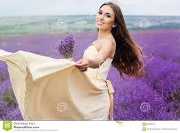 pretty is wearing wedding dress at purple stock photo image