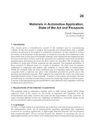 materials in automotive application state of the art and prospects