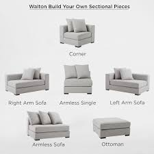 Sectional Sofa Pieces Build Your Own Walton Sectional Pieces West Elm