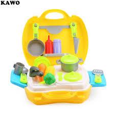 jeux de simulation de cuisine kawo 26 pcs enfants mini simulation cuisine cuisine outils boîte