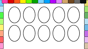 learn to color for kids and color and decorate this easter egg