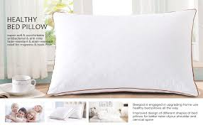 Pillow For Reading In Bed Amazon Com Beegod Bed Pillows 2 Pack For Better Sleeping Super