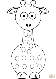 cartoon giraffe coloring free printable coloring pages