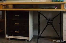 Diy Craft Desk With Storage by Sew At Home Mummy Diy Fabric Cutting And Craft Table Ikea Rast Hack