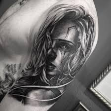 men half sleeve latino face tattoo design idea golfian com