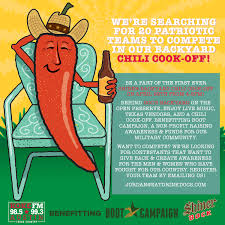 chili teams needed for the sunset valley shiner backyard chili