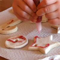 salt dough ornaments cookies