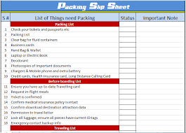 Packing List Template Excel List Templates Archives Save Word Templates