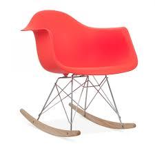 eames style red rar rocker chair wooden rocking chair cult uk