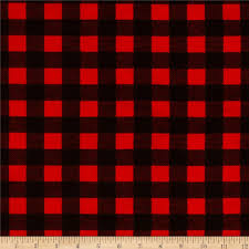 flannel buffalo plaid red black from fabricdotcom from camelot