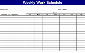 Employee Schedule Template Excel Weekly Work Schedule Templates Free Work