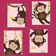 Monkey Baby Room Monkey Nursery Art Monkey Nursery Decor Monkey Art For