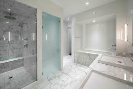 contemporary master bathroom with drop in bathtub complex marble