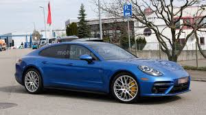 old hatchback porsche 2017 porsche panamera turbo spied alongside the standard model