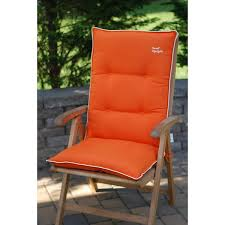 marvelous outdoor high back chair cushions orange with beige high
