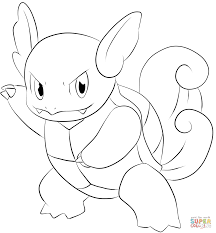 wartortle coloring page free printable coloring pages