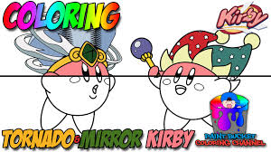 kirby tornado kirby and mirror kirby nintendo coloring pages