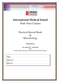 microbiology lab report 1 format