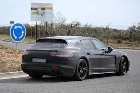 future porsche panamera spy shots a porsche panamera shooting brake gets spotted teases