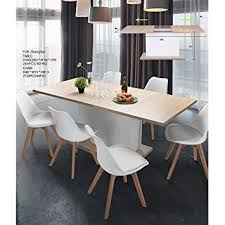 Amazoncom Extension Dining Table FurnitureR Extendable - Beech kitchen table