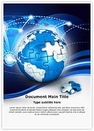 globe puzzle word document template is one of the best word