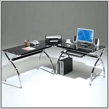 Glass L Shaped Desk Office Depot Office Depot Glass Desk Realspace Mezza L Shaped Glass Computer