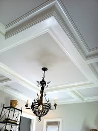 coffered ceiling not too big of a beam good for kitchen
