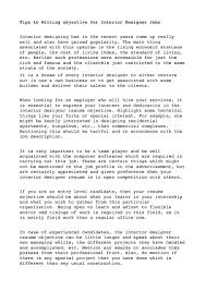 resume objective writing tips doc 12751650 interior design resume objective sample format interior designer resume interior design resume objective