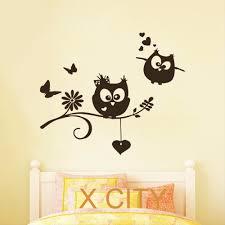 Owl Wall Decals Nursery by Cartoon Owl Lovers Childrens Decor Kids Vinyl Sticker Wall Decal
