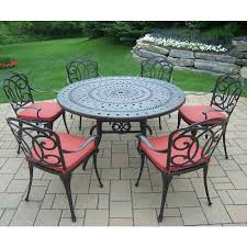 Round Table Oakland Starrkingschool - 7 piece outdoor dining set with round table