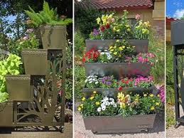 Vertical Garden For Balcony - tiered mobilegro rolling container garden is ideal for small space