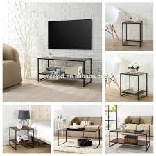 Modern Wooden Sofa Bed Modern Bed Night Stand Metal Frame Wooden Sofa Square Cube Side