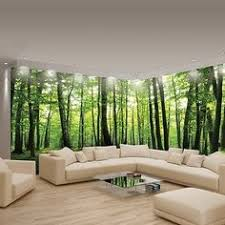 Wall Murals Bedroom by Free Shipping 3d Fake Windows Tree Landscape Wallpaper Mural