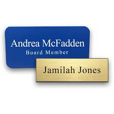 gold name tag engraved name tags with text
