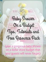 dollar store baby shower baby shower on a budget miss mae s days